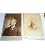 Antique Cabinet Card Photos Lot of 2 Brothers Benson NY New York 1893 1895 - $6.95