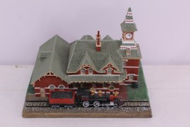 The Danbury Mint.1993 The Old Railroad Station American Historic - $20.00