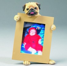 """PUG FAWN  DOG PHOTO PICTURE FRAME GIFT RESIN 2-1/2""""X3-1/2"""" - $14.95"""