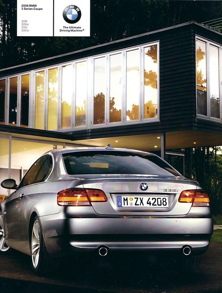 2008 BMW 3-SERIES Coupe brochure catalog US 08 328i xi 335i