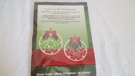 2 MINI PEACE HOPE DREAMCATCHER ORNAMENTS CHRIST TUNPI MERRY CHRISTMAS IN... - $4.94