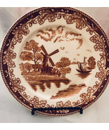 """Windmill Scene on 6"""" Plate Made in Japan - $20.59"""