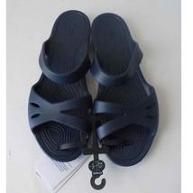 Crocs Sandals Women 10 Navy Blue Comfort Rubber Slip On Kelli - $24.75