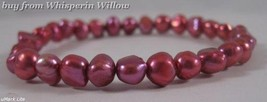 Red Cultured Freshwater Pearl Stretch Bracelet - $9.99