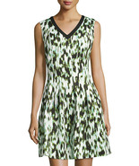 Marc New York Size 6 Sleeveless V Neck Fit Flare Dress Mint New - $63.36