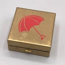 Pink Umbrella Metal Pill Box - $4.94