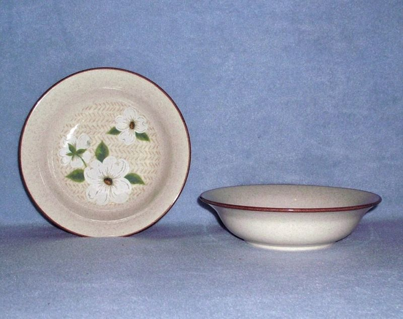 Primary image for Mikasa Style Manor Dogwood FD801 2 Soup / Cereal Bowls