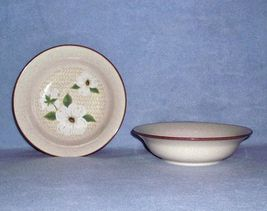 Mikasa Style Manor Dogwood FD801 2 Soup / Cereal Bowls - $7.99