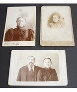 Antique Cabinet Card Photos Momence IL Chicago Illinois Lot of 3 Man Wom... - $4.95