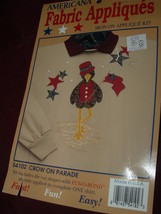 IRON-ON FABRIC APPLIQUES / CROW ON PARADE - $4.00