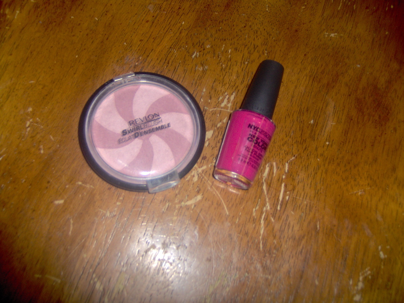 NEW Revlon Swirl Blush Frost and NYC Nail Polish Magenta Fla