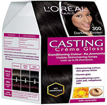 L'Oreal Paris Casting Creme Gloss, Darkest Brown 300, 87.5g+72ml - $19.79