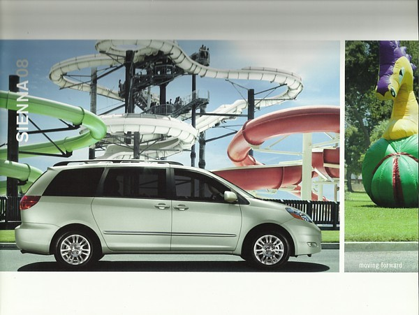 2008 Toyota SIENNA sales brochure catalog 08 US XLE Limited