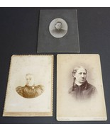 Antique Cabinet Card Photos Photographs Lot of 3 Women Harrisburg PA and... - $4.95