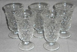 Set (5) Fostoria American Pattern 6 Oz Footed Juice Glasses - $39.59