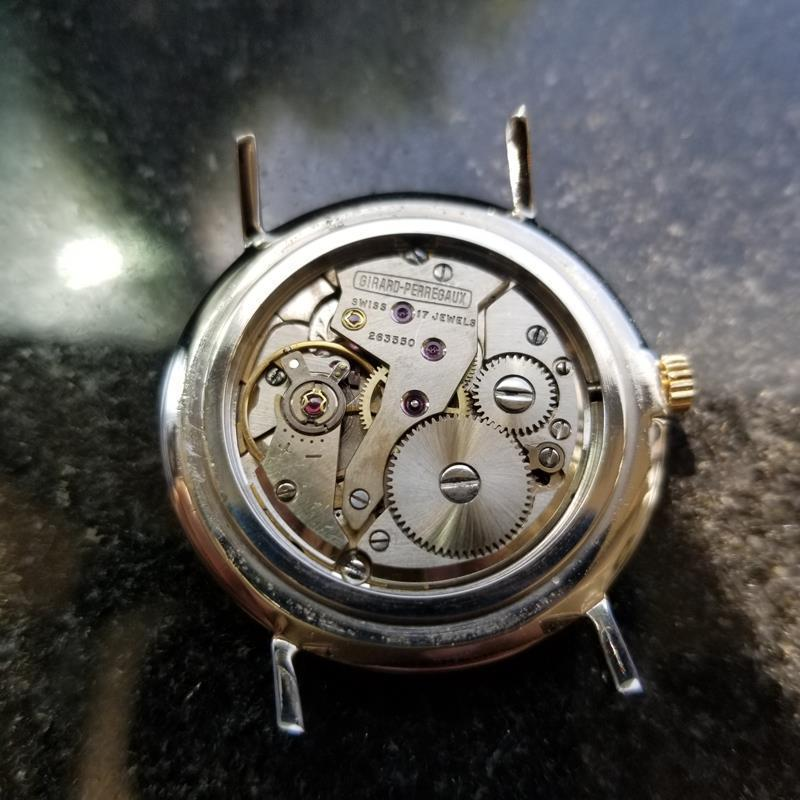 GIRARD-PERREGAUX Gold-Capped Men's Manual Hand-Wind Dress Watch c.1960s MS212 image 8