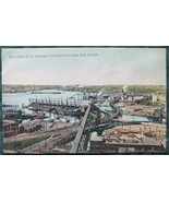 Early Divided back Postcard, Printed in Belgium, Harbor at S - $11.00