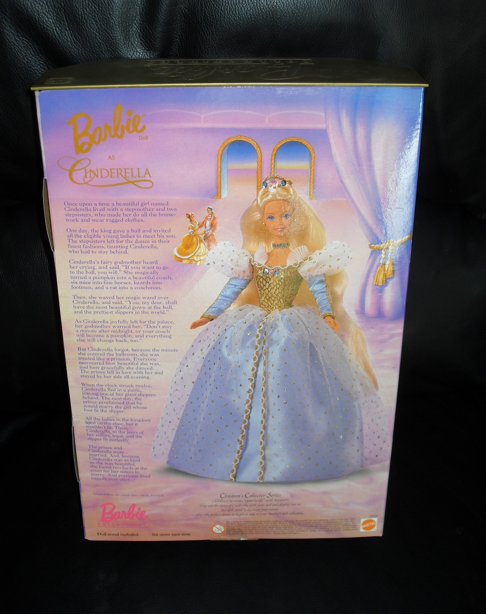 1996 Barbie As Cinderella Doll New In The Box