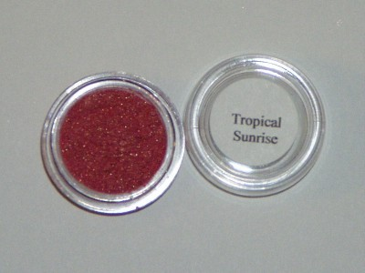 Mineral eye shadow liner red brown