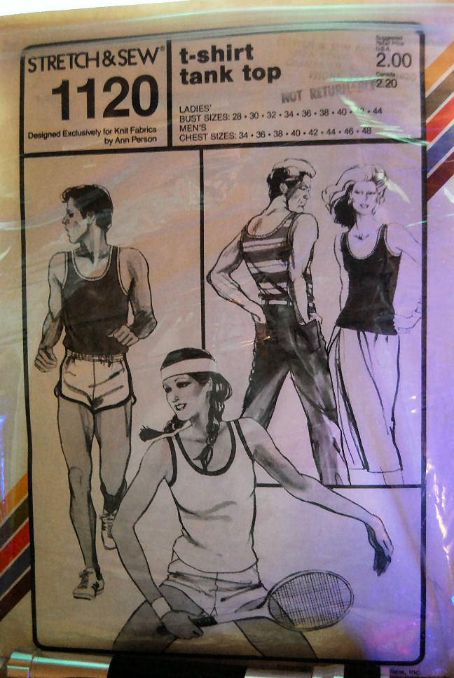 Pattern 1120 T-shirt Tank Top Ladies 28-44 Men's 34-48