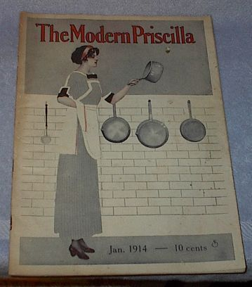 Modern Priscilla Needlwork Fashion Housekeeping Magazine Jan 1914