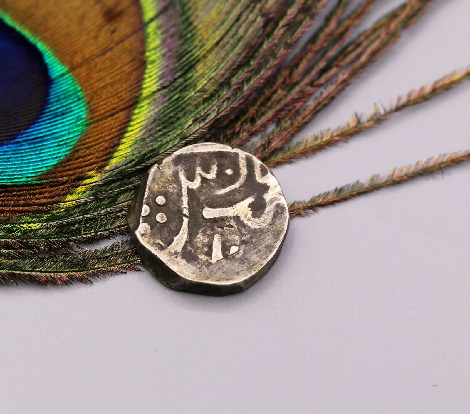 HANDMADE SOLID SILVER COIN GINNY USED AS CURRENCY MAKING ANTIQUE JEWELRY cn08