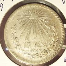 KM#455 1924 Silver Mexican Peso VF #019 image 2