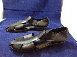 Easy Street Black Leather Comfortable Slip-on Shoes Sz 10M image 2