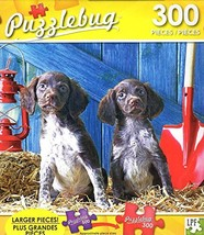 Cute Puppies in a Barn - 300 Large Pieces Jigsaw Puzzle - Puzzlebug - p 003 - $10.06
