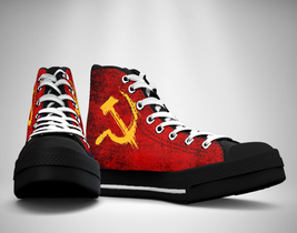 CCCP Soviet Union Russian Canvas Sneakers Shoes - $49.99