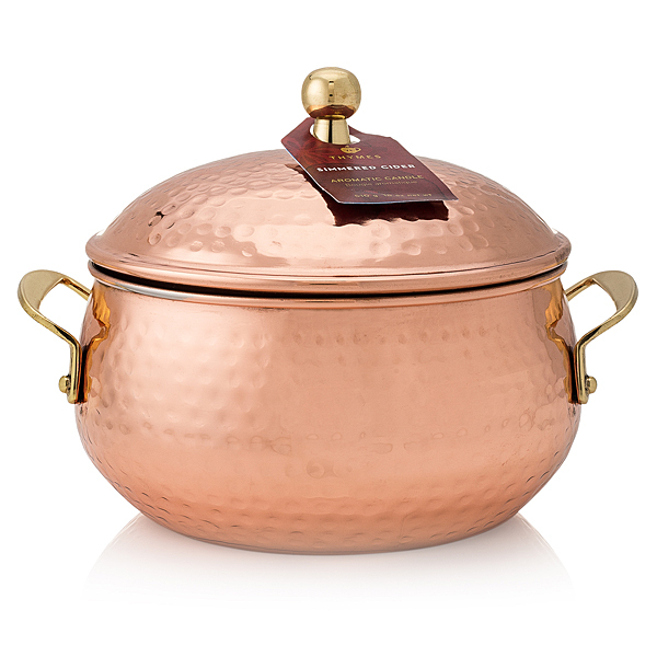 Primary image for Thymes Simmered Cidar Copper Candle Pot 18oz
