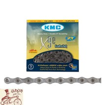 """KMC X9e EPT 9-SPEED 1/2"""" X 11/128""""---136 LINKS SILVER MTB-ROAD BICYCLE C... - €39,31 EUR"""