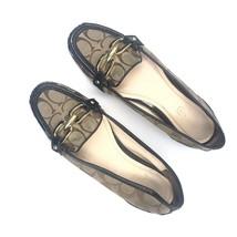 Women's Coach Perri Driving Loafers Flats Logo Slip On Size 7B - $49.50