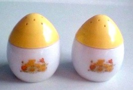 Imperial Garden Cream Jar Flowers Butterfly Avon Shaker Style Set of 2 - $12.38