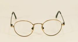Fossil STRAIGHT-SIX Gold Metal Eyeglass Frames Designer Style Rx Eyewear - $9.12