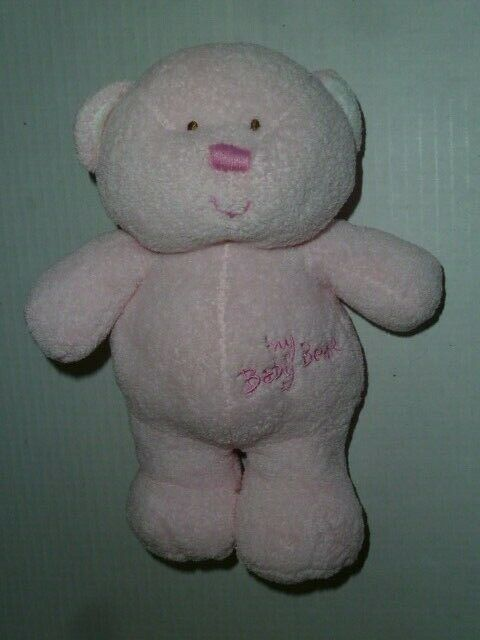 "Primary image for TY Pluffies~My Baby Bear~Pink Plush Lovey 9"" Beanie Stuffed Tylux Teddy 2005"