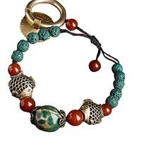 Ethnic Handmade Bracelets Woven Jewelry Agate Bracelet Retro Chinese Style image 2
