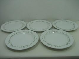 """Sheffield Elegance Set - Five (5) 10.25"""" Dinner Plates Silver Trim Floral Detail - $18.65"""