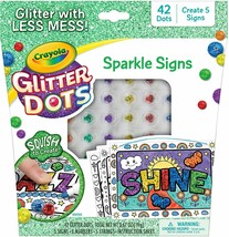 Crayola Glitter Dots Sparkle Signs Craft Kit - 5 Signs - Squishy Fun - A... - $11.00