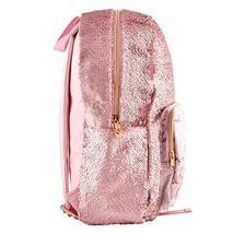 Style.Lab Fashion Angels Backpack-Pink Glitter/Velvet Pocket Magic Sequin Back P image 3