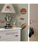 University of Arkansas Peel and Stick Wall Decals Appliques, NEW SEALED - $12.59