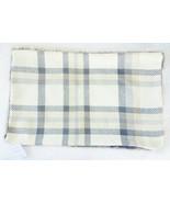 Pottery Barn Nottingham Plaid Faux Fur Back Lumbar Pillow Cover 16x26 Iv... - $47.53