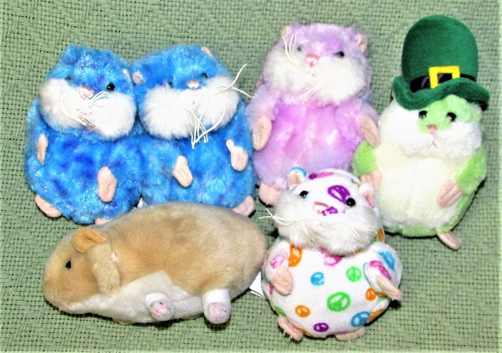 Primary image for Plush Lot Ganz FIRST EDITIONS MAZIN Amazing HAMSTER Presto PETUNIA Hope Green +