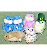 Plush Lot Ganz FIRST EDITIONS MAZIN Amazing HAMSTER Presto PETUNIA Hope Green + - $23.38