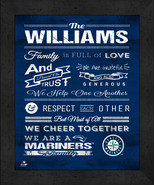 """Seattle Mariners """"Family Cheer"""" 13 x 16 Framed Print - $39.95"""