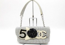 AUTHENTIC CHANEL No.5 & Camellia Canvas x Ename... - $1,020.00