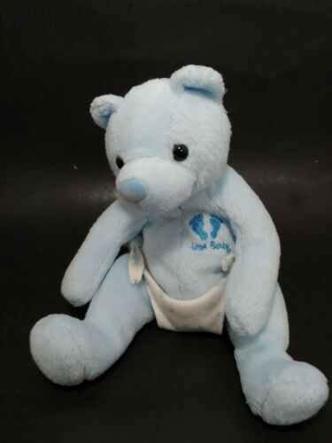 Primary image for Ty Beanie baby Bear Blue attached diaper plush New Baby It's a boy USED