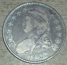 1822 Silver Capped Bust Half Dollar - $252.45