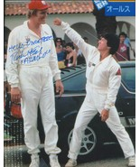 Richard Kiel signed Cannonball Run II photo with Jackie Chan pictured. - $18.95