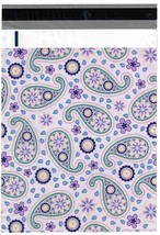200 Bags 100 10x13 Purple Paisley, 100 10x13 Pink Peony Designer Poly Ma... - $18.95